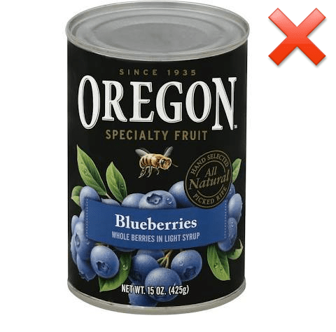 canned blueberry