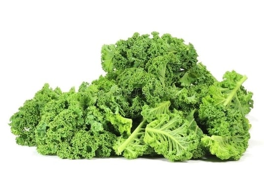 picture of kale on a white background